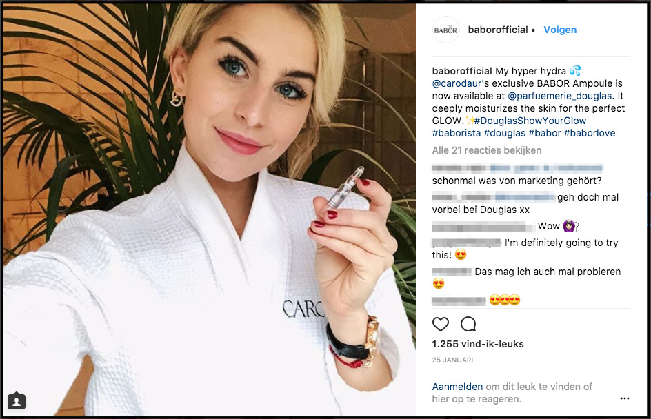 influencer marketing example