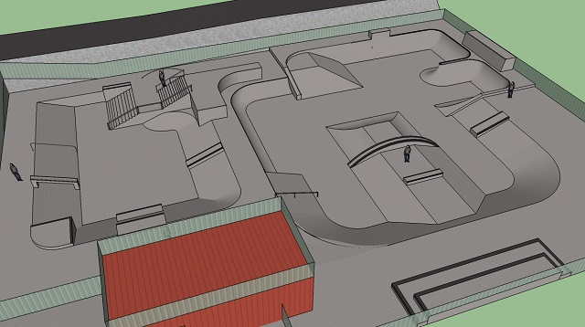 3D modelled skatepark design
