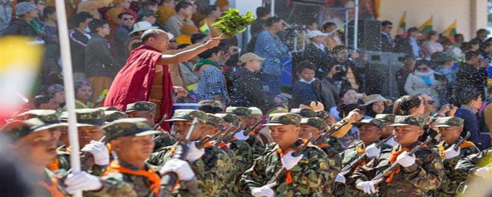 Myanmar ethnic festival in Jan