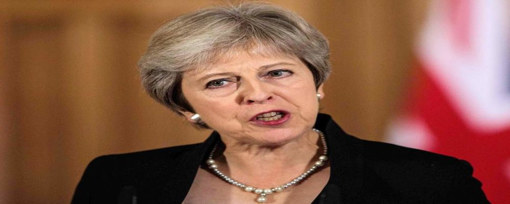 May downplays Trump warning that UK would struggle to get US trade deal