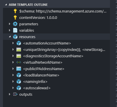 Using the Azure Resource Manager VS Code Extension