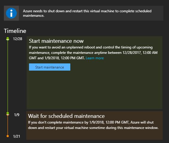 Azure Pre-Emptive Maintenance
