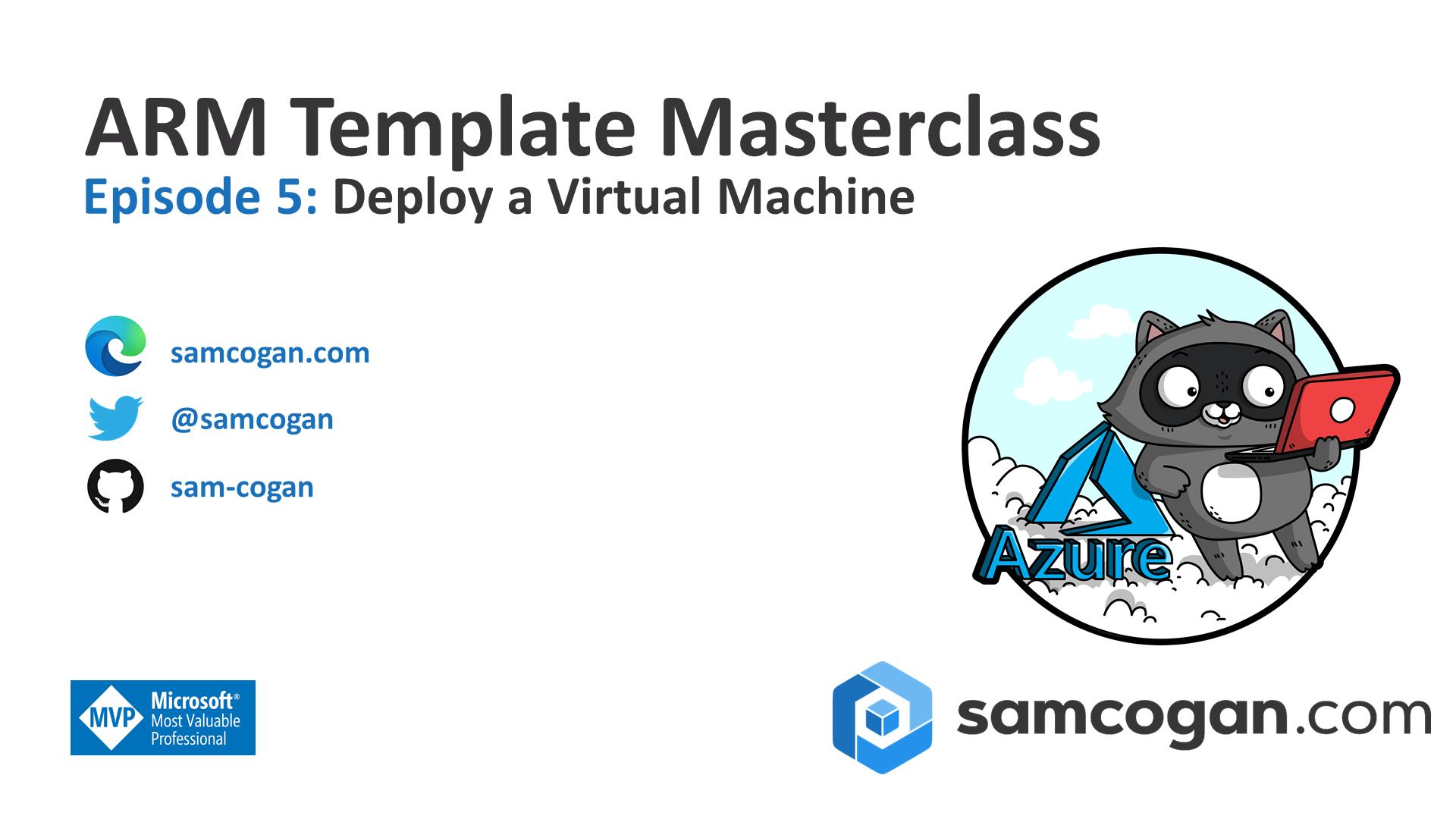 Announcing ARM Template Masterclass