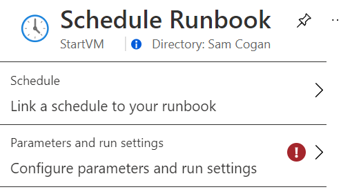 Schedule Runbook