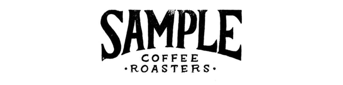Second Sample Coffee logo as grunge stamp