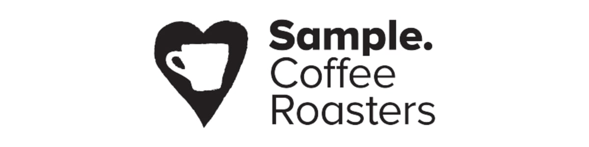 Third Sample Coffee logo including Roasters and the heart and cup graphic