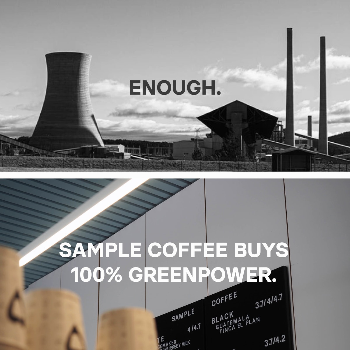 Sample Coffee buys renewable energy for their roastery and cafes