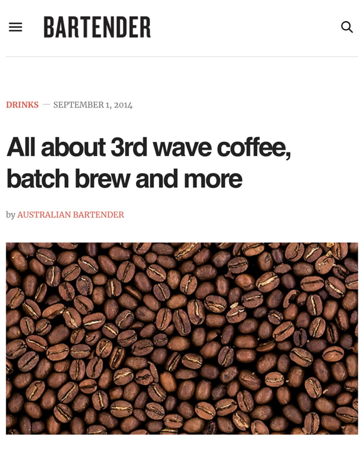 Sam Baygrave, interview about third wave coffee with Reuben