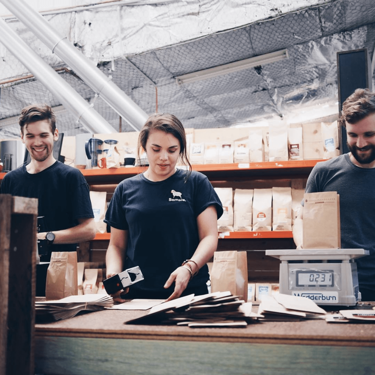 Delivery and packing crew