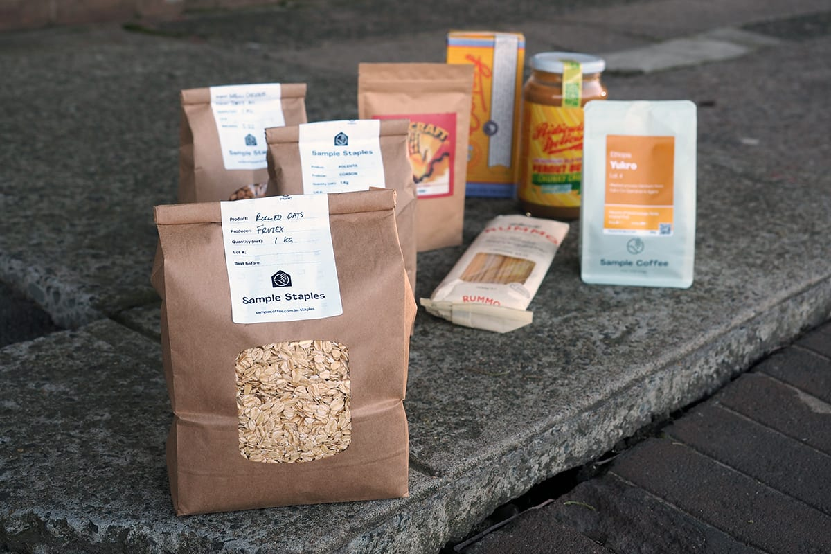 Pantry Staples and local food essentials shopping in Sample Coffee Roastery