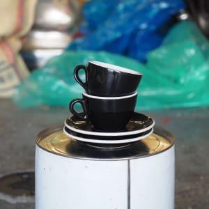 Photo of 2 x ACF Medium Cup + Saucer - Black