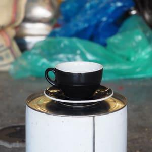 Photo of 1 x ACF Medium Cup + Saucer - Black