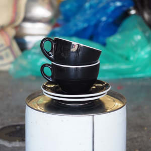 Photo of 2 x ACF Large Cup + Saucer - Black