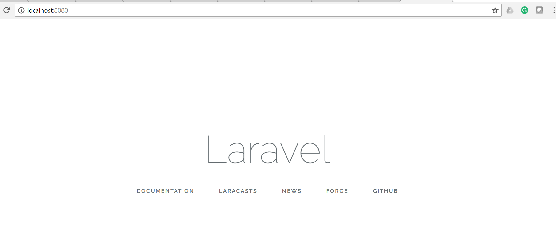 Laravel-home-page