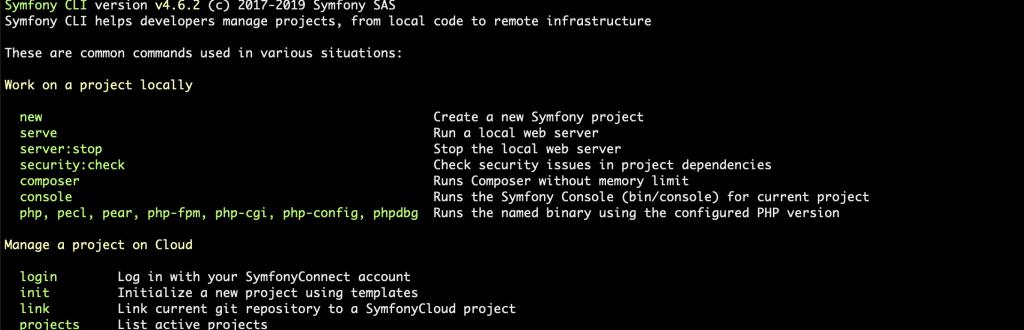 Verifying symfony installation