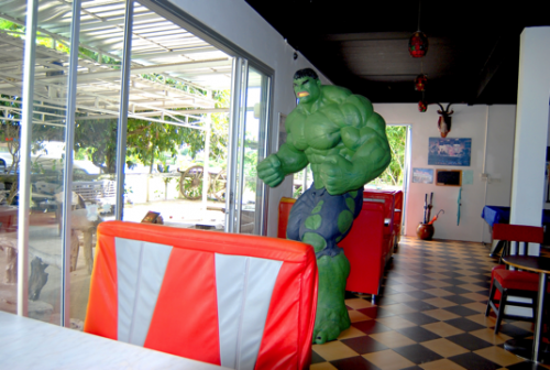 The Hulk will protect you while you eat and drink.