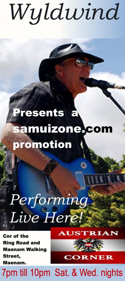 7pm till 10pm, Sat & Wed. a samuizone.com promotion.