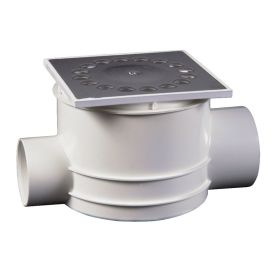 DYKA DOUCHESIFON DOORSTROOM DIA 40/50 MM 10x10 CM RVS img