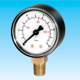 """EURO-INDEX BUISVEERMANOMETER RF 63 R 1/4"""" RAD 0/+10 img"""
