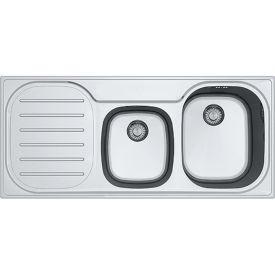 FRANKE COMPACT PLUS GLAD DRUIPBLAD LINKS 1120x500 INOX VLAKBOUW img