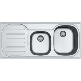FRANKE COMPACT PLUS GLAD DRUIPBLAD LINKS 1120x500 INOX INBOUW img