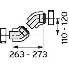 VAILLANT BOCHT 45° (TWEE STUKS) DIAM. 60/100 img