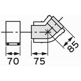 VAILLANT BOCHT 45° (TWEE STUKS) DIAM. 80/125 img