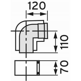 VAILLANT BOCHT 90° DIAM. 80/125 img