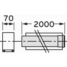 VAILLANT VERLENGSTUK 2 METER DIAM. 80/125 img