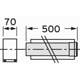 VAILLANT VERLENGSTUK 0,5 METER DIAM. 80/125 img