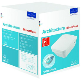 VIB OMNIA ARCHITECTURA WANDCLOSET PACK DIRECT FLUSH VIERKANT MET SOFTCLOSE TOILETZITTING WIT img
