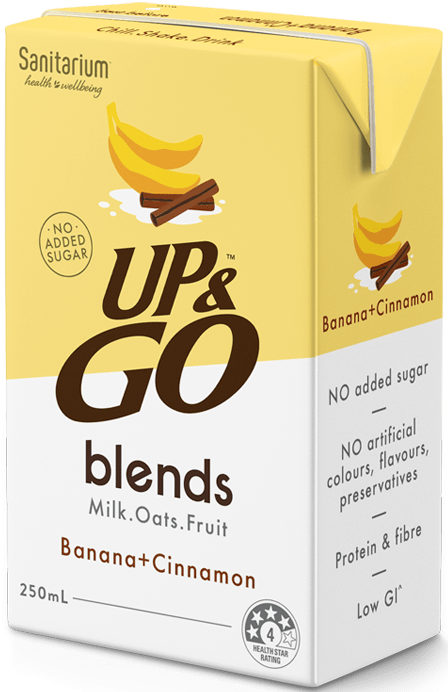 UP&GO blends Banana + Cinnamon