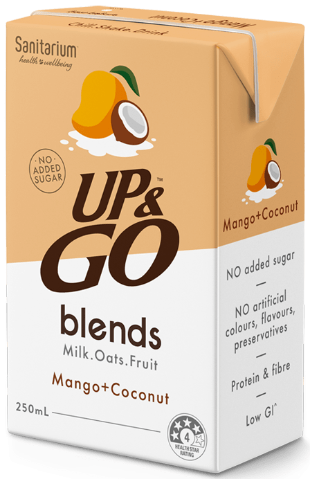 UP&GO blends Mango + Coconut