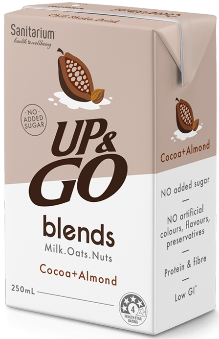 UP&GO blends Cocoa + Almond