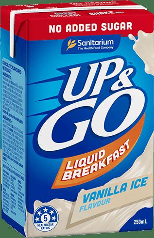 UP&GO No Added Sugar Vanilla Ice Flavour