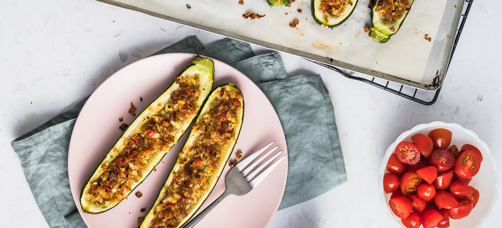 Stuffed Zucchini Boats Sanitarium Health Food Company