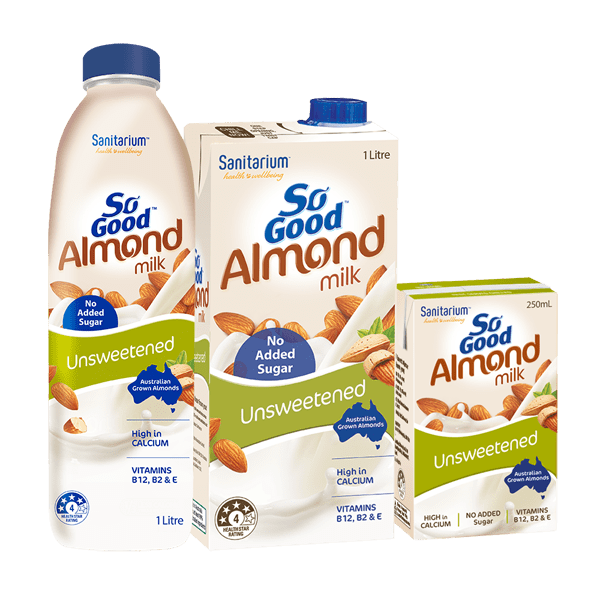So Good Almond Milk Unsweetened - Sanitarium New Zealand