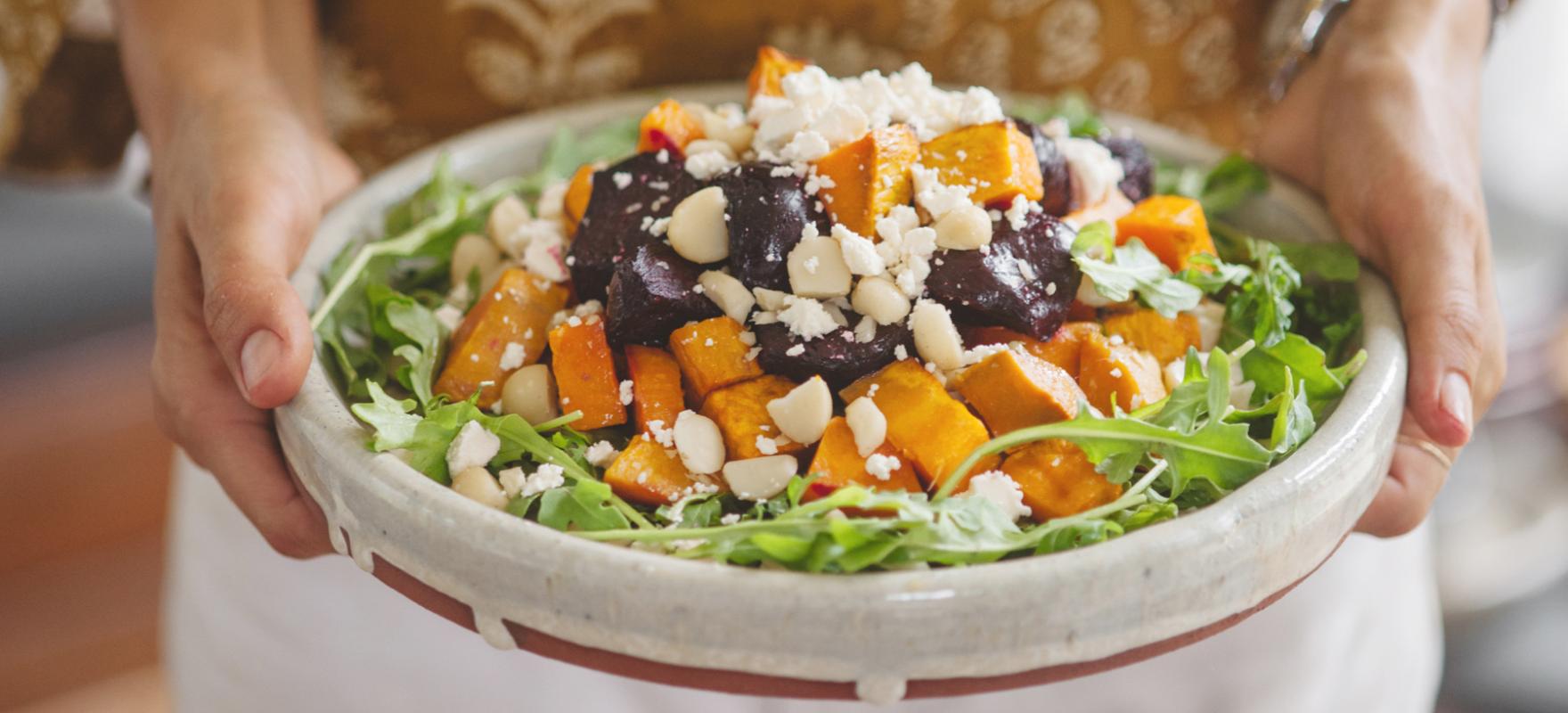 Roast Beetroot Feta And Rocket Salad Sanitarium Health Food Company