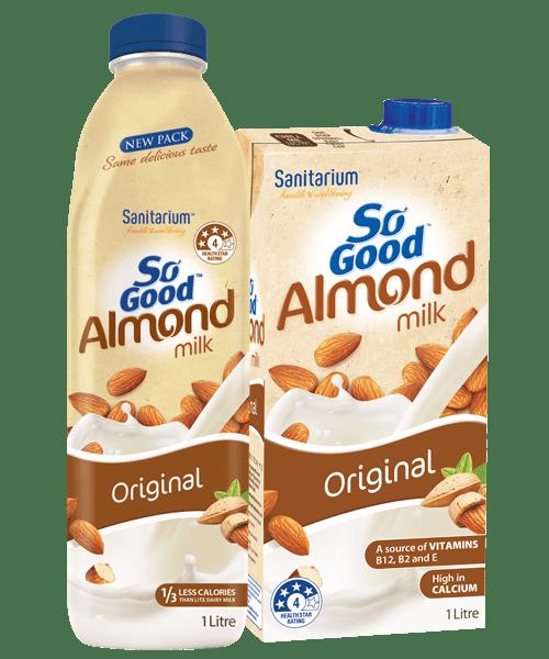 So Good Almond Milk Unsweetened - Sanitarium New Zealand
