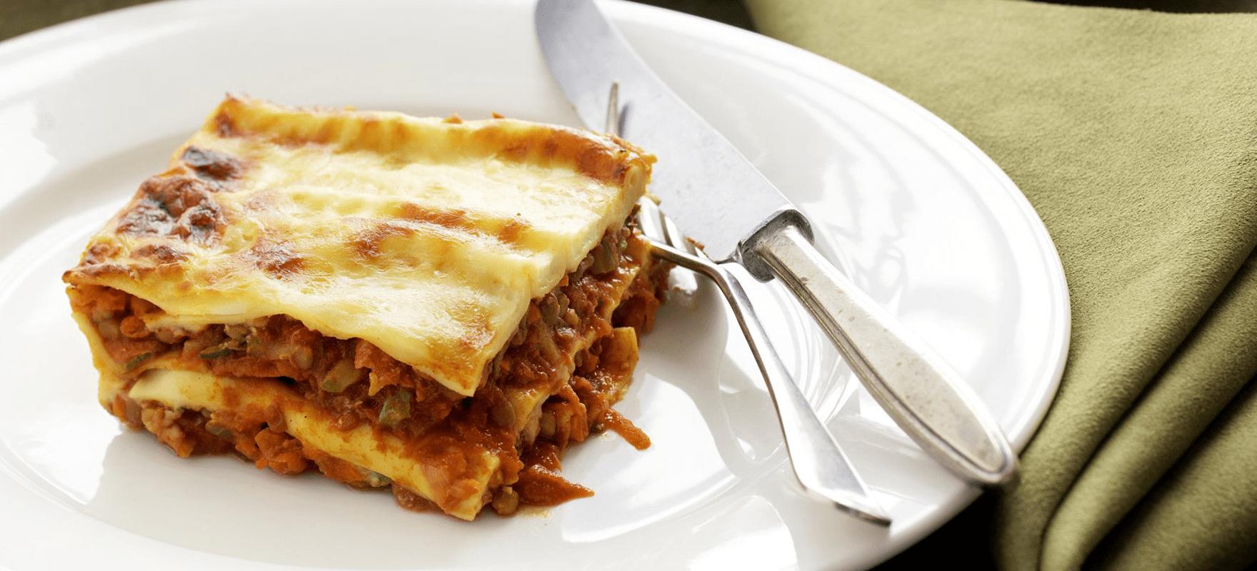 Curried Vegetable And Lentil Lasagne