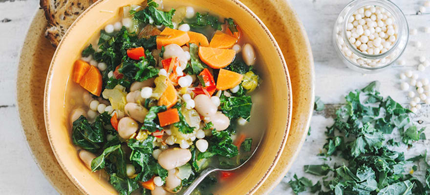 Israeli Couscous And Butterbean Soup Sanitarium Health Food Company