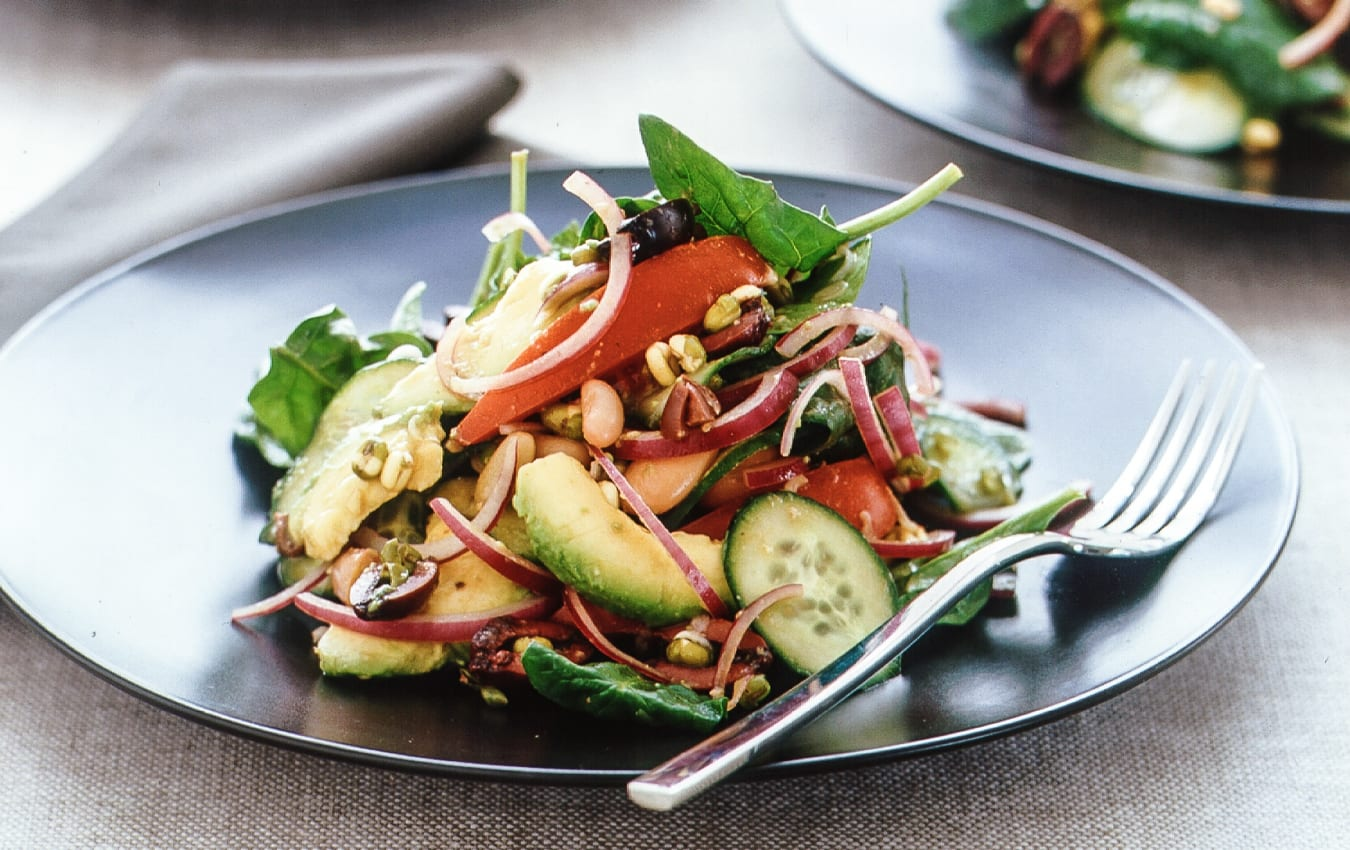 Mediterranean bean salad image 1