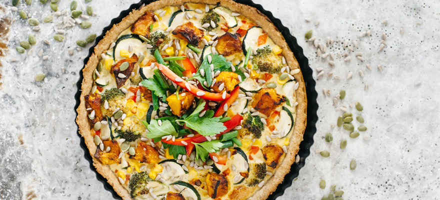 Vegetable quiche image 1