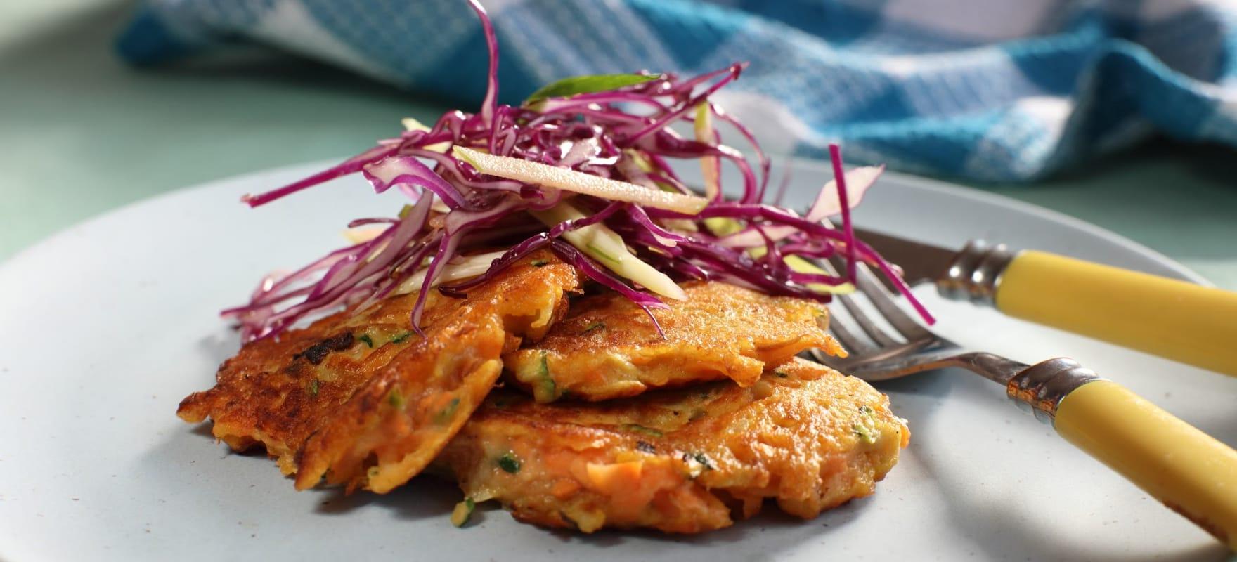 Sweet potato and zucchini fritters image 1