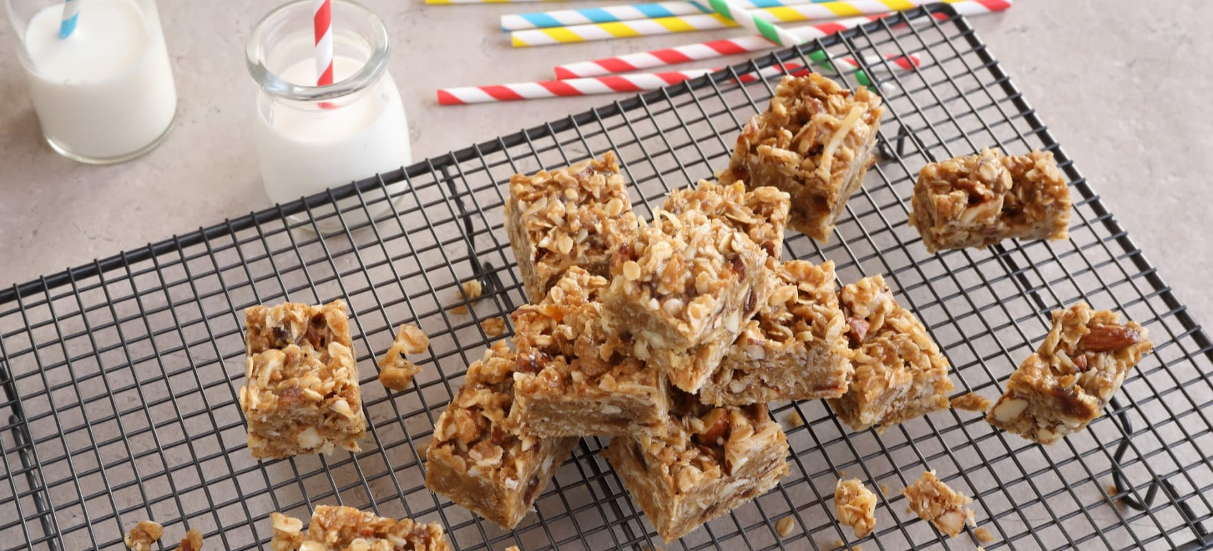 Peanut Butter and Date Weet-Bix™ slice image 1