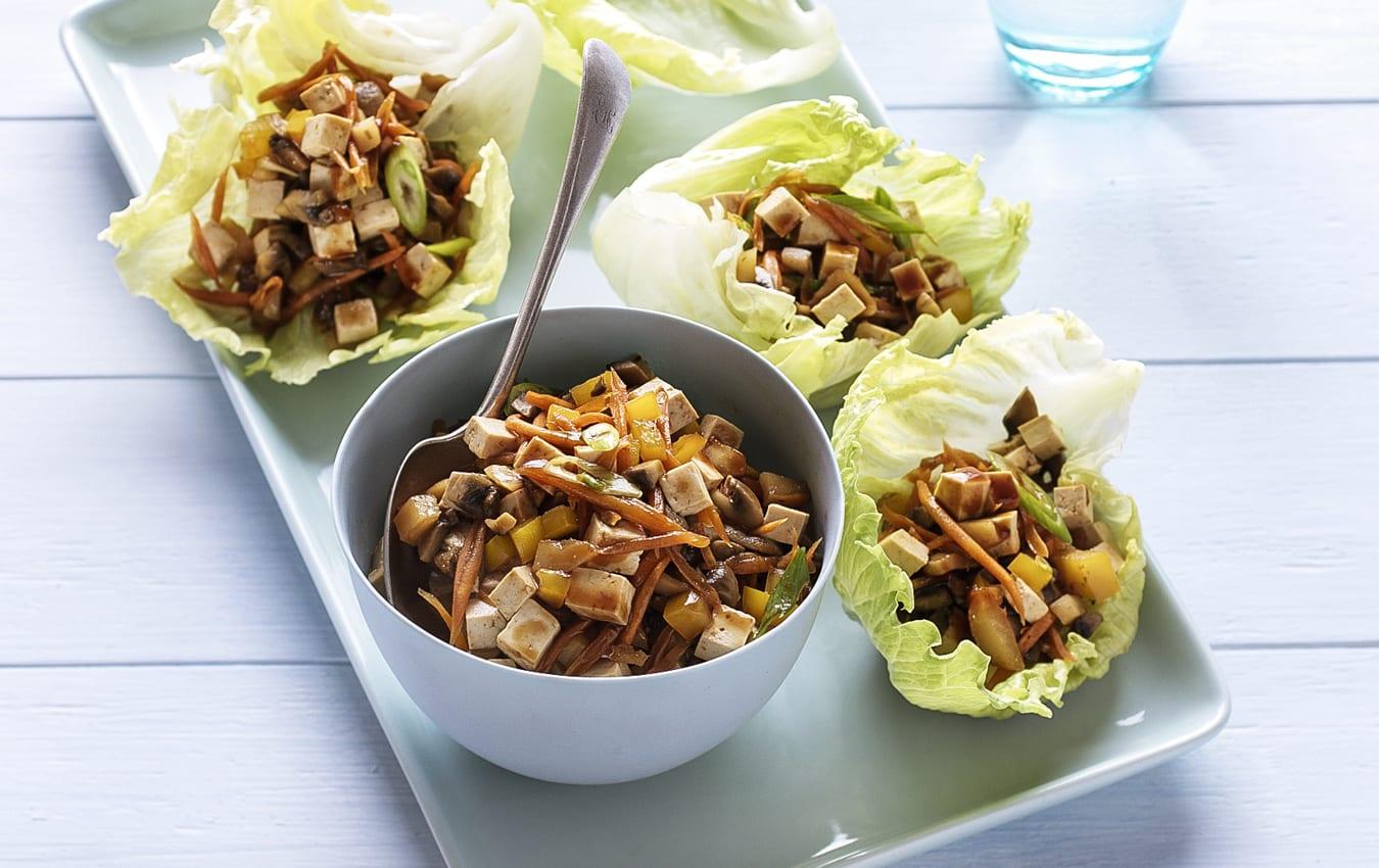 Mushroom and tofu san choy bau image 1