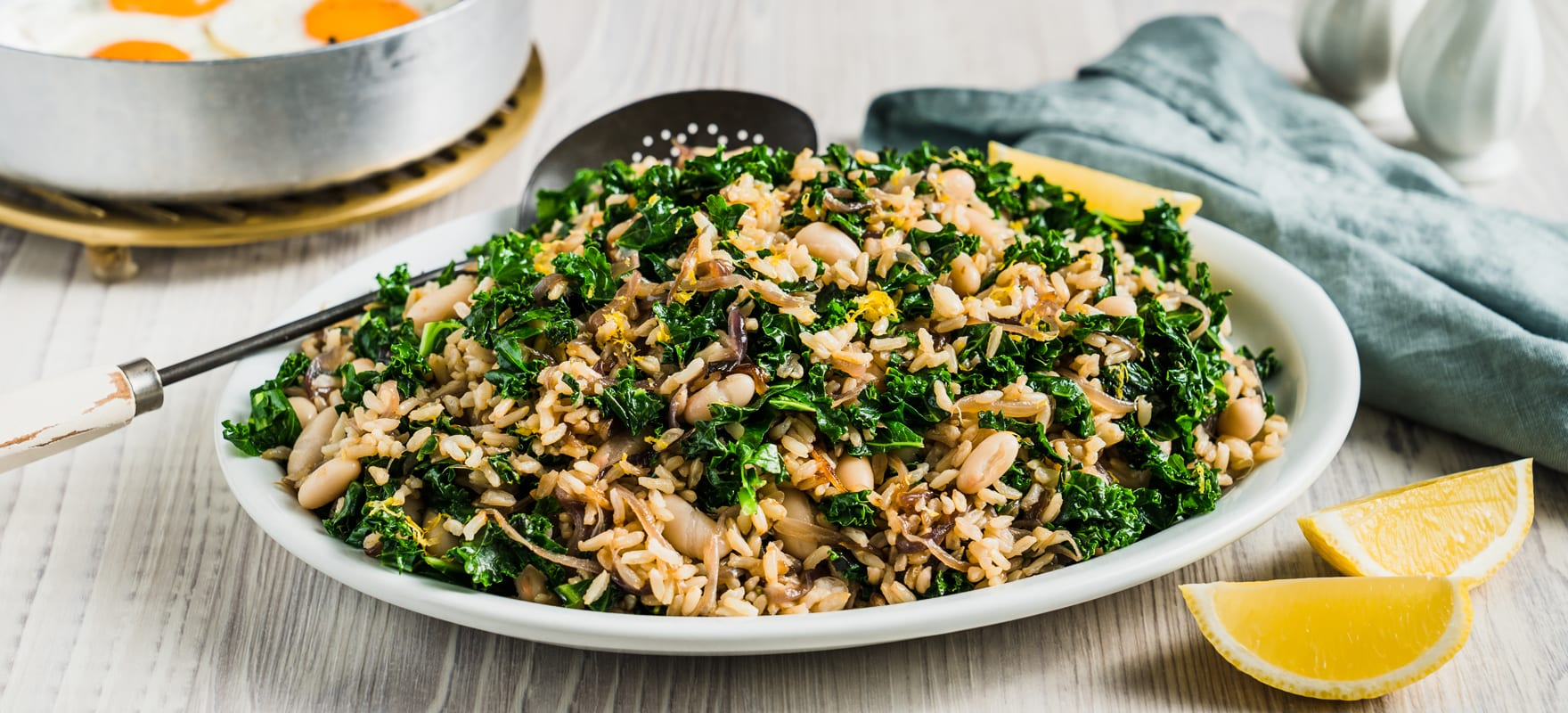 Caramelised onion & kale rice image 1
