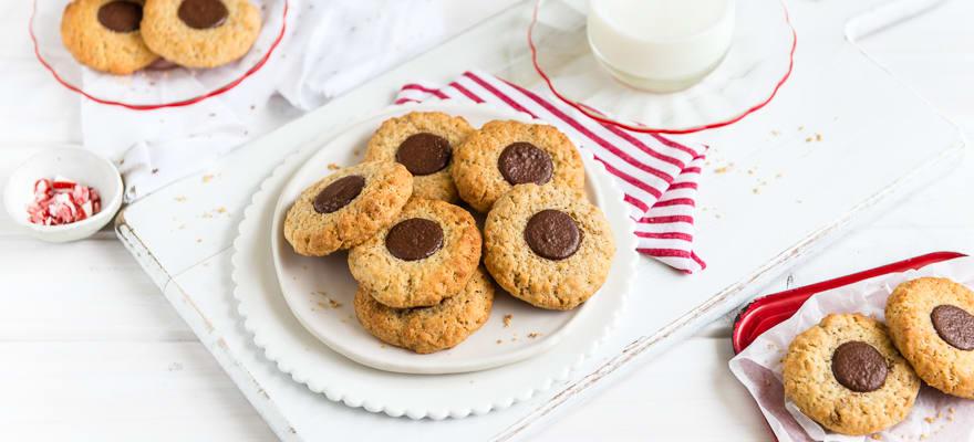 Chocolate Thumbprint Cookies image 1