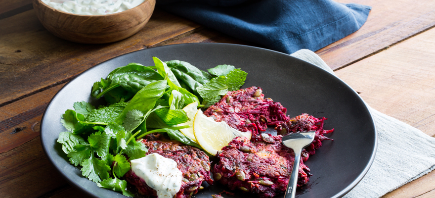 Weet-Bix™ beetroot, courgette and feta fritters image 1