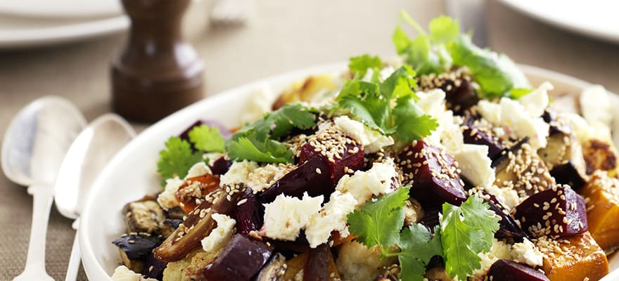 Baked vegetables with dates and feta image 1